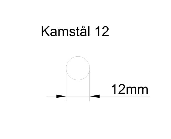 kamstål 12mm