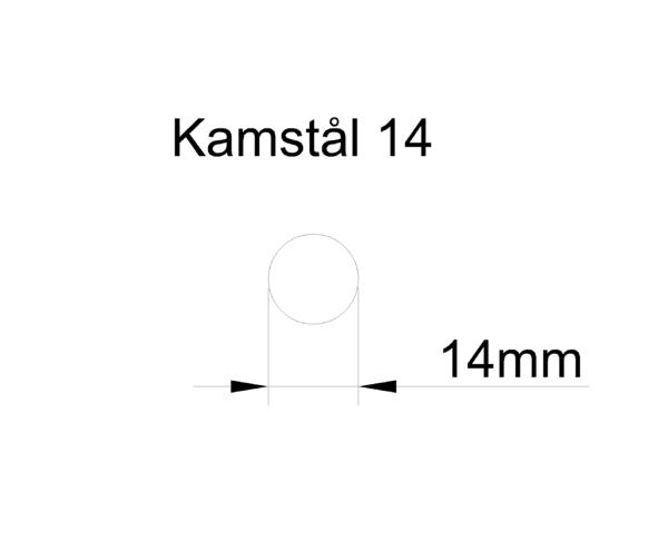 kamstål 14mm