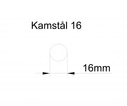 kamstål 16mm