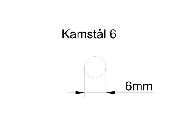 kamstål 6mm