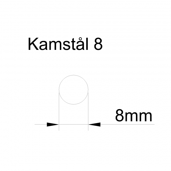 kamstål 8mm